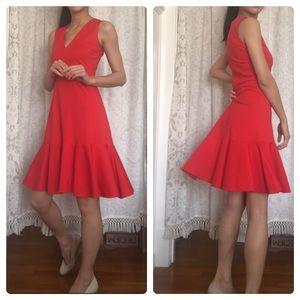 J. CREW Red Half-Mermaid Dress